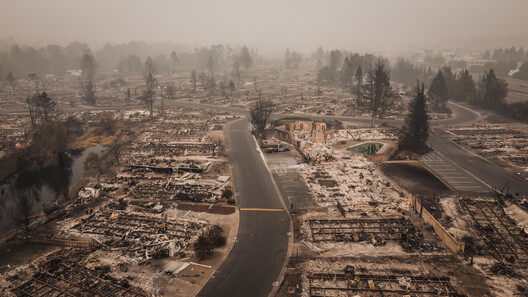 via Shutterstock by ArboursAbroad. ImageAerial View of the Almeda Wildfire in Southern Oregon