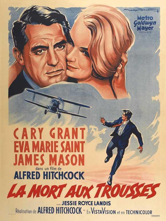 Film La Mort Aux Trousses : trousses, Poster, Trousses, Alfred, Hitchcock, Acheter, (3338), Affiches-et-posters.com