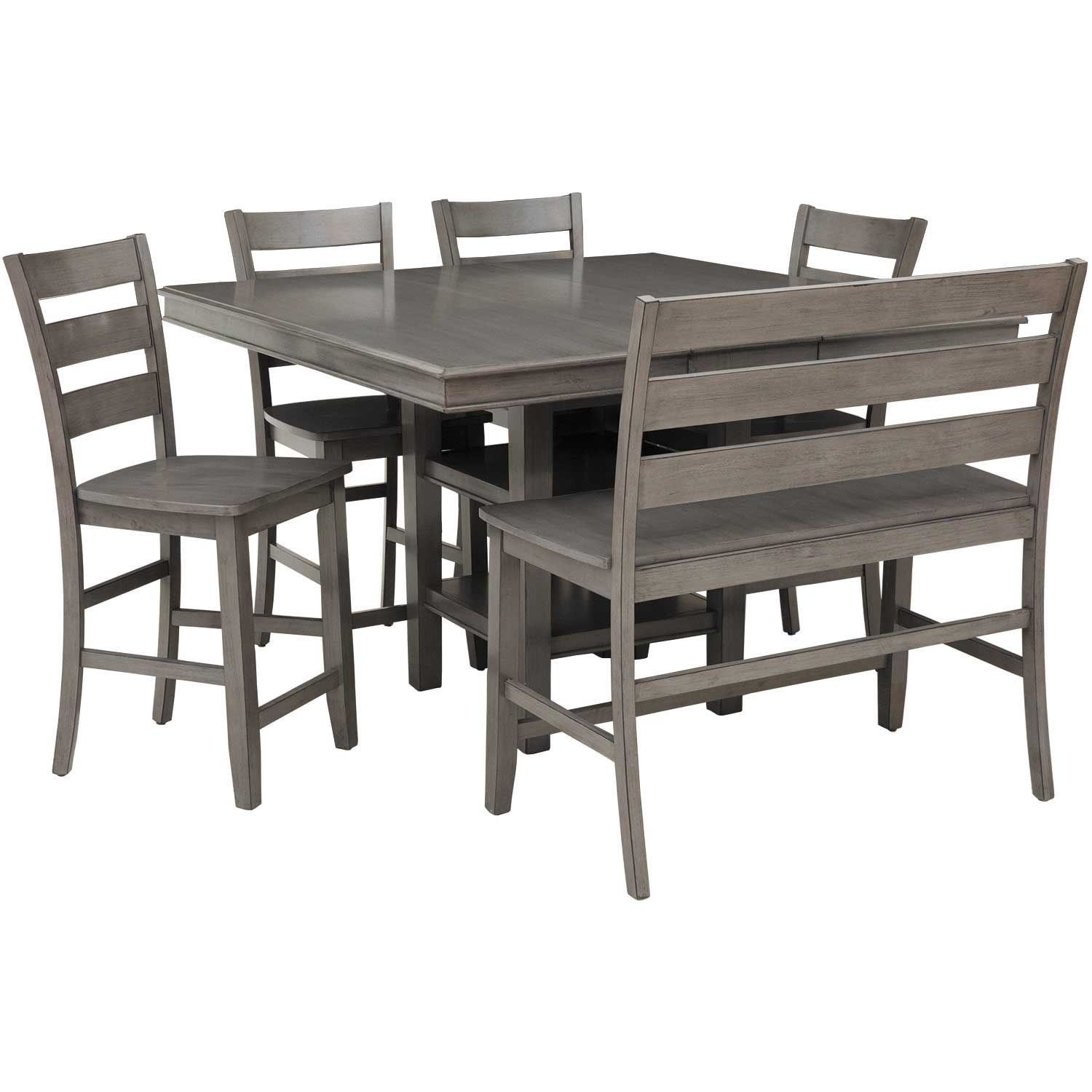 Earl Grey 6 Piece Counter Height Dining Set Lifestyle Furniture C1651 Ptxpp2 Afw Com