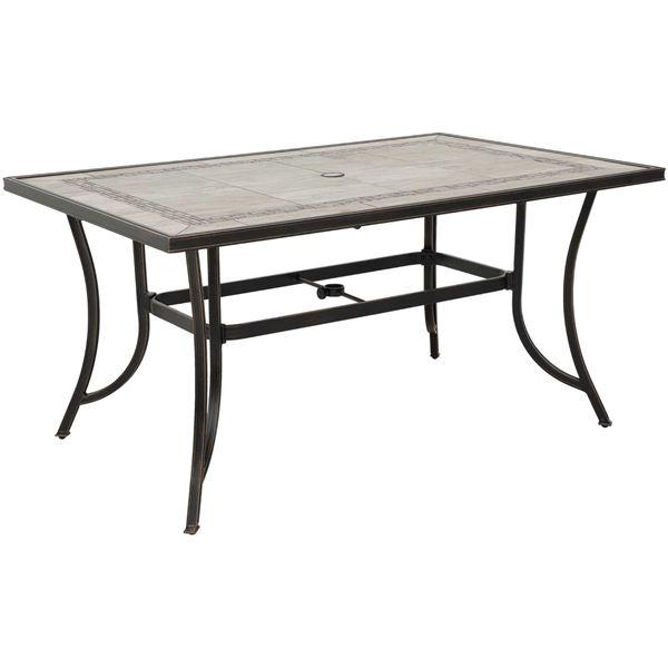 barnwood 84 tile top patio table t