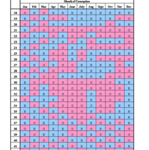 two chinese gender calendars