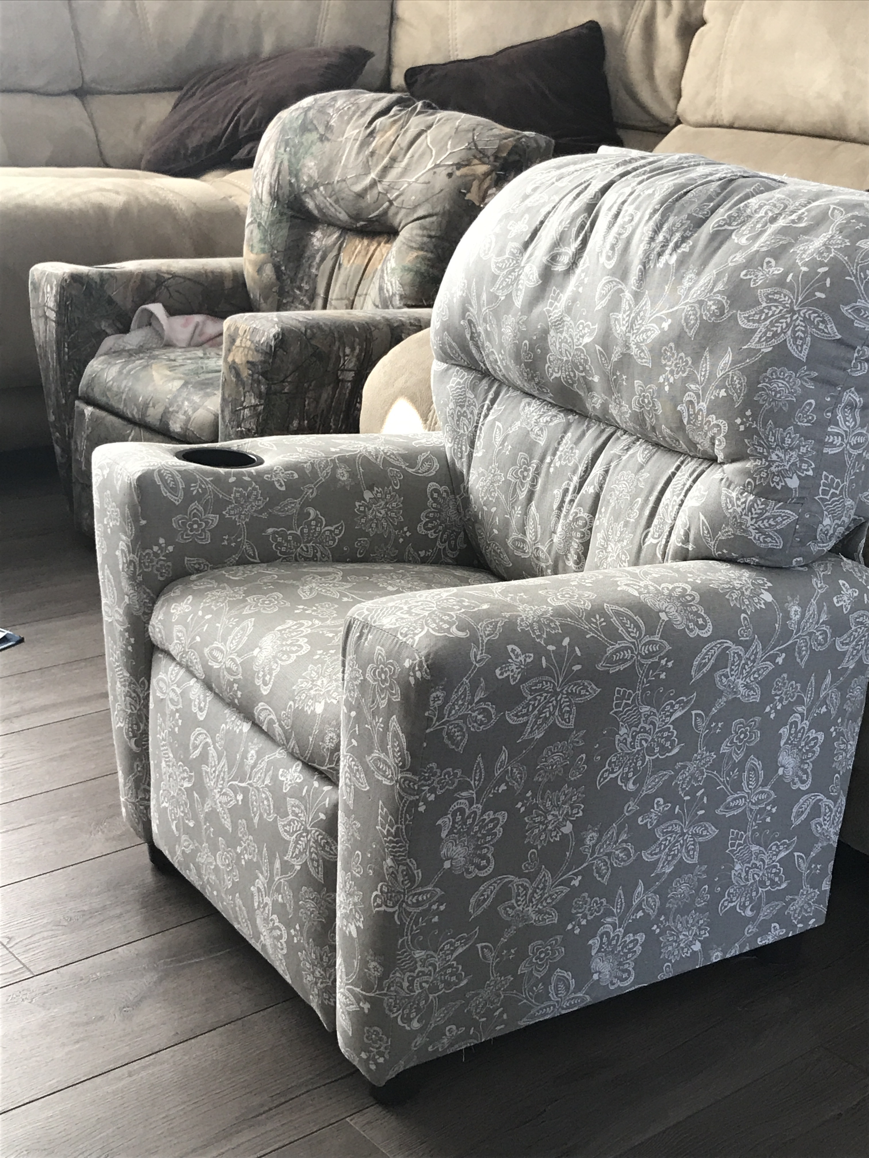 pottery barn anywhere chair cover shrunk western style leather chairs october 2016 babies forums what we got these from wayfair for our kids my son 3 lives in his daughter 1 5 uses the cup holder to hold her snacks but doesn t sit it