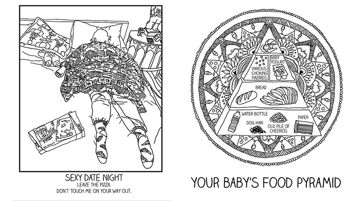 This Coloring Book for New Parents Will Soothe You While