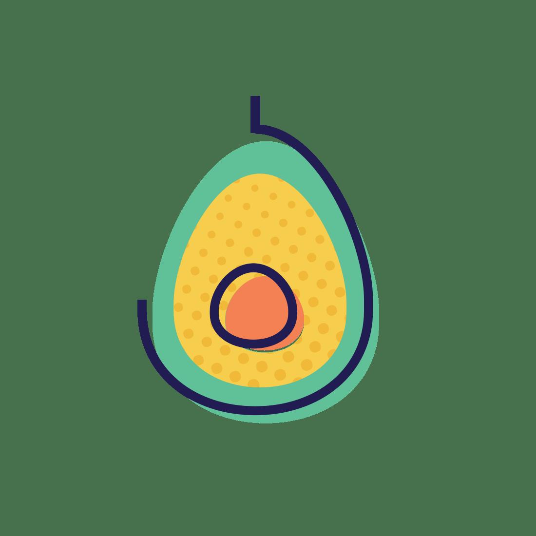 hight resolution of avocado