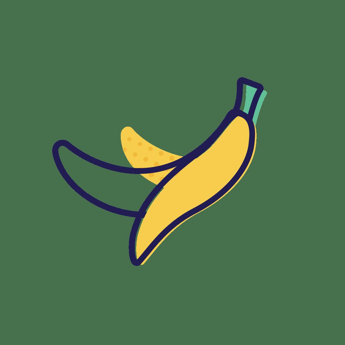 hight resolution of banana