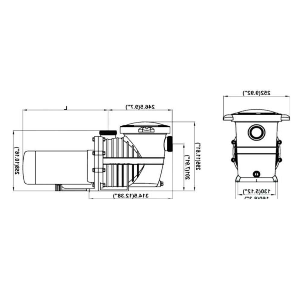 115-230v 2HP Inground Swimming Pool pump motor Strainer