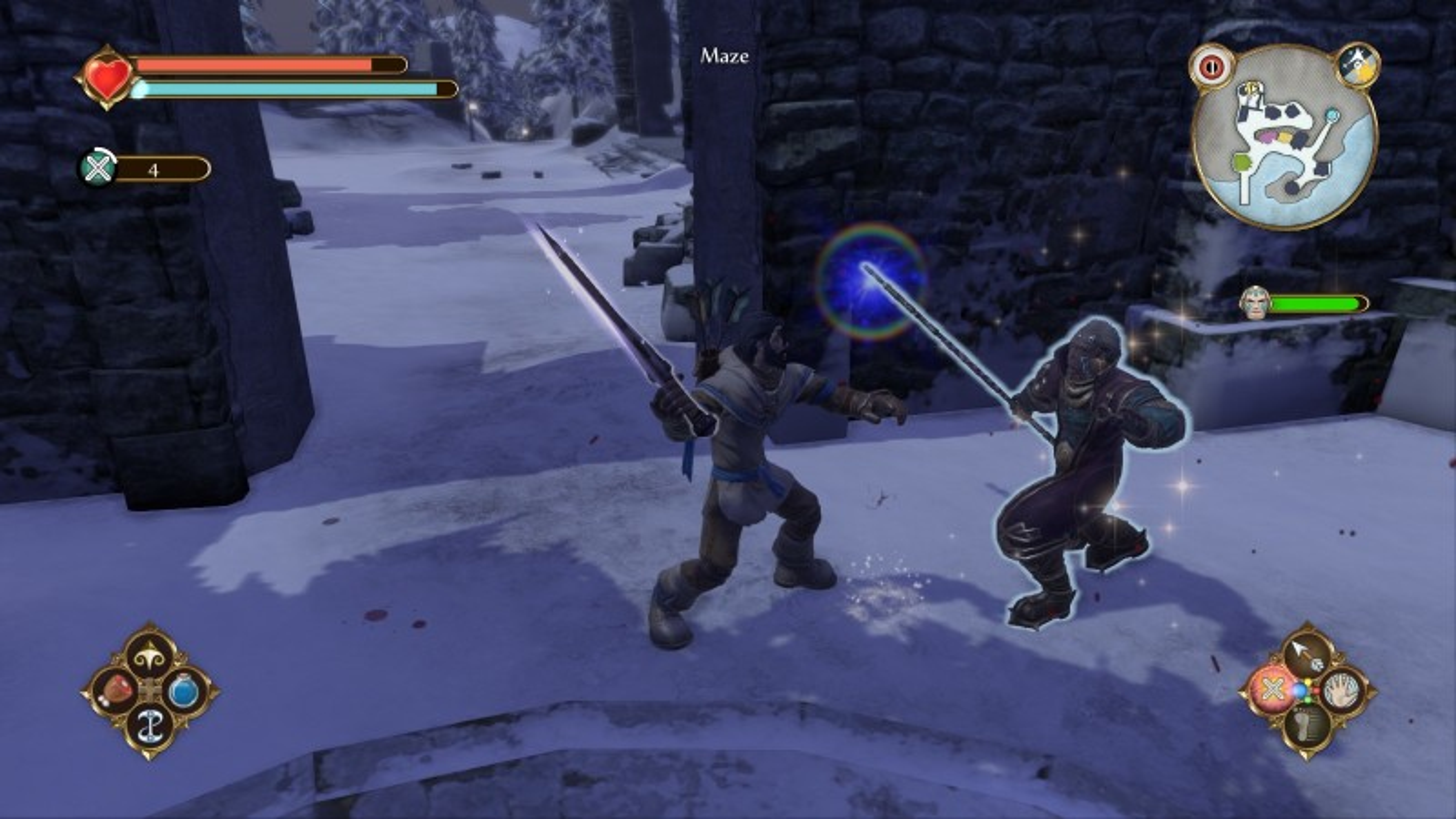 Hood and Maze do battle.