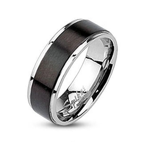 Damen Herren Ring Edelstahl Partnerring Ehering Zweifarbig Damenring Herrenring  eBay