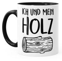 Kaffee-Tasse Ich und mein Holz Holzi Tasse mit Innenfarbe ...