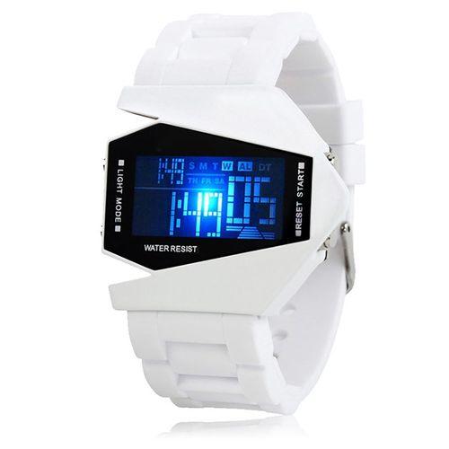 Silikon LED LCD Uhr Digital Armbanduhr Militär Military