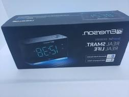 Emerson SmartSet Alarm Clock Radio with Bluetooth Speaker,