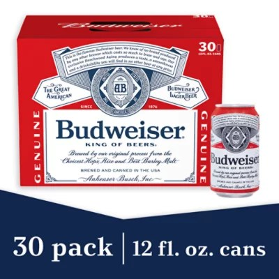 budweiser beer cans 30 12 fl oz
