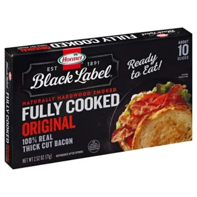 hormel full cooked bacon 2 52 oz