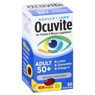Ocuvite Eye Vitamin & Mineral Supplement Softgels Adult 50 ...