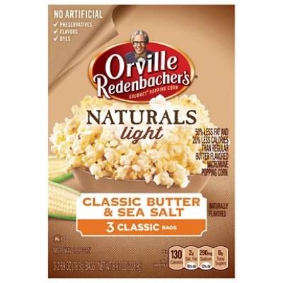 orville redenbachers popping corn gourmet naturals classic butter sea salt 3 2 69 oz