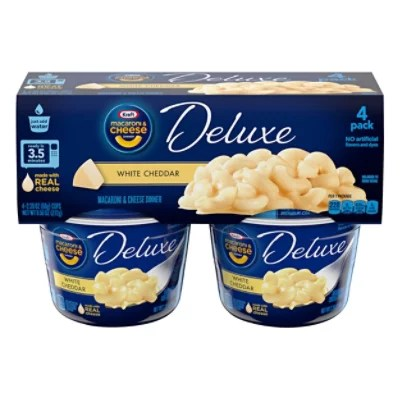 kraft macaroni cheese dinner deluxe white cheddar cup 4 2 39 oz