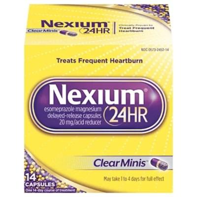 Nexium Acid Reducer Capsules 24 Hr 20 mg Delayed-Release ...
