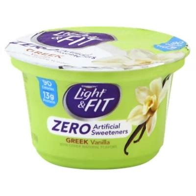 Dannon Light & Fit Yogurt Greek Nonfat Zero Artificial ...