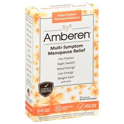 Amberen Menopause Relief Capsules - Online Groceries | Vons