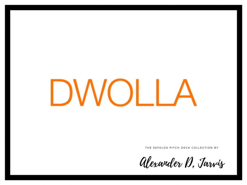 Dwolla Startup Pitch Deck to raise seed investment