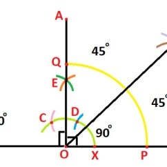 90 Degree Diagram 208 Volt Lighting Wiring Construction Of 135 Angle With The Help Compass At Algebra Den Therefore Aoe Eob Aob 45 Each As Shown Below
