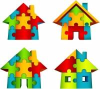 3D House Puzzle Free vector in Adobe Illustrator ai ( .AI ...
