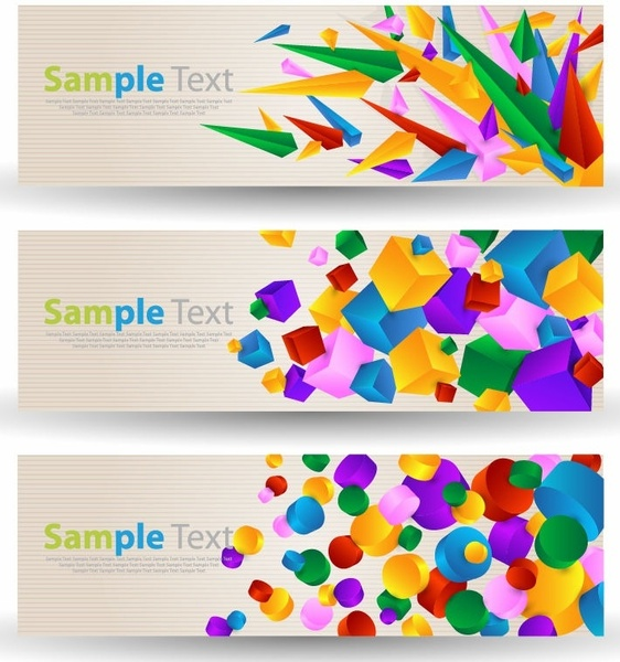 abstract colorful banner free