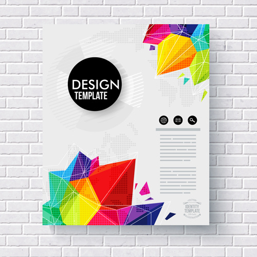 Abstract Cover Brochure Business Vectors Free Vector In