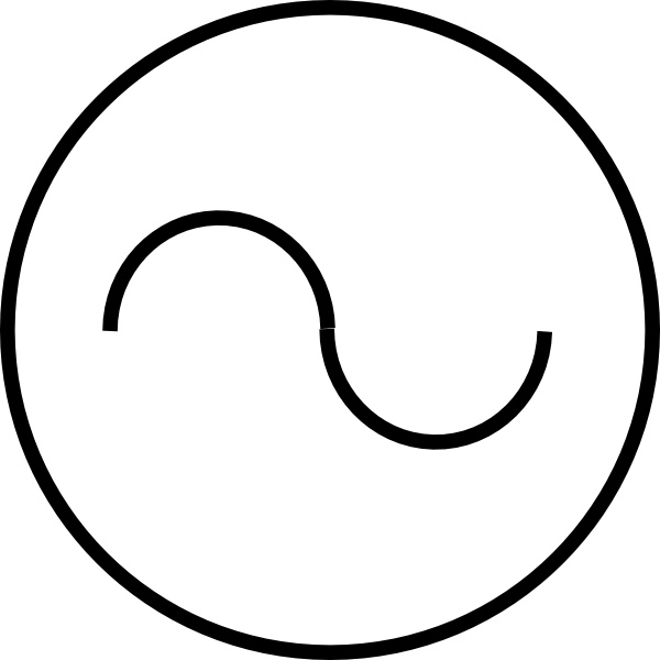 Ac Source Symbol clip art Free vector in Open office