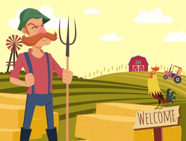 Image result for farmer crops cartoon