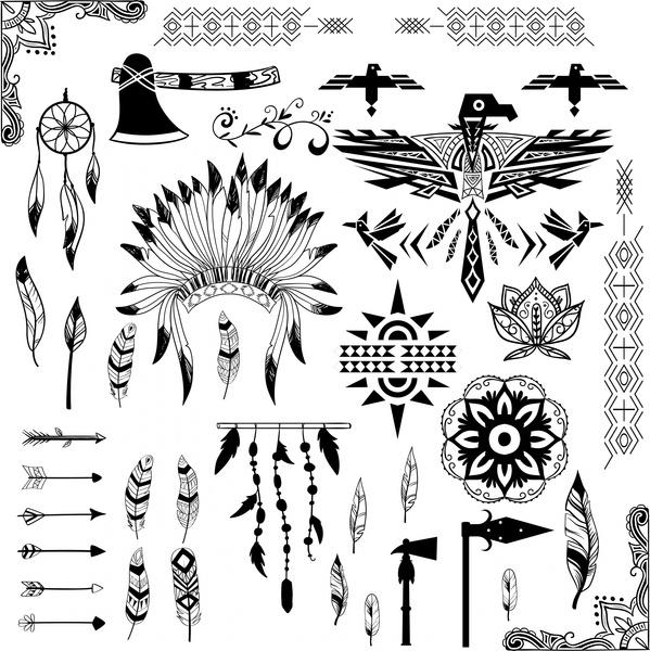 american tribe symbols design