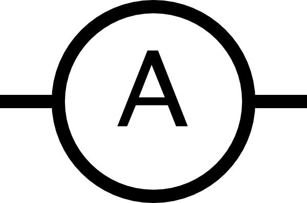 Ampere Meter Symbol clip art Free vector in Open office