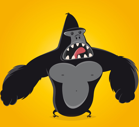 Cute Elephant Cartoon Wallpapers Gorilla Free Vector Download 45 Free Vector For