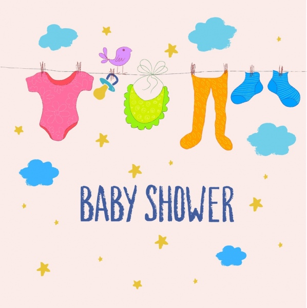 baby shower background hanging