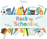 Back to school supplies Free vector in Adobe Illustrator ...