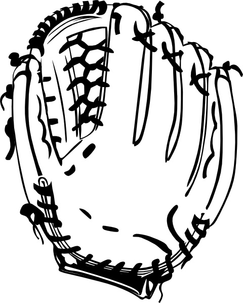 Download Baseball Glove (b And W) clip art Free vector in Open ...