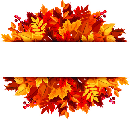 autumn leaves border free vector