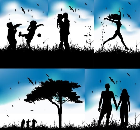 Couple Silhouette Free Vector Download 5968 Free Vector
