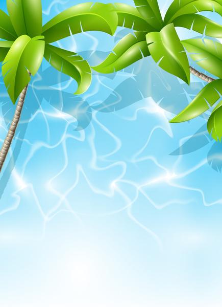 Tropical Background Aloha Hawaii Free Vector Download