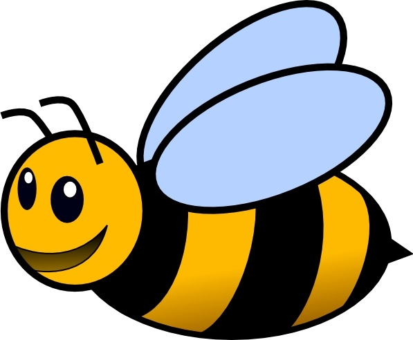 bee clip art free vector in open