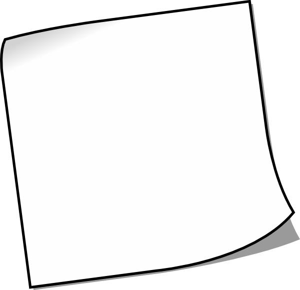 blank sticky note clip art free