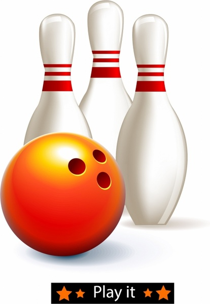 Download Bowling ball and pins Free vector in Adobe Illustrator ai ...