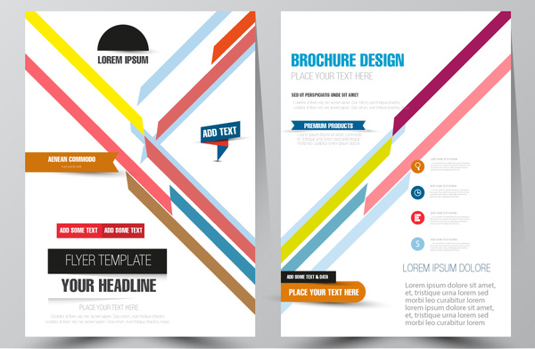 brochure design with diagonal