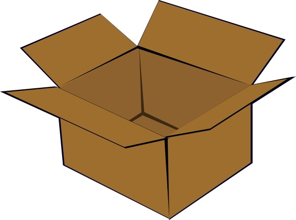 Cardboard Box Clip Art Free Vector In Open Office Drawing