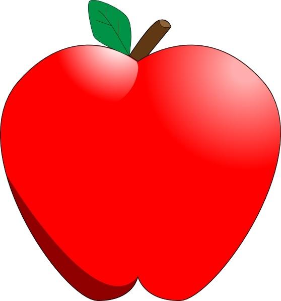 cartoon apple clip art free vector