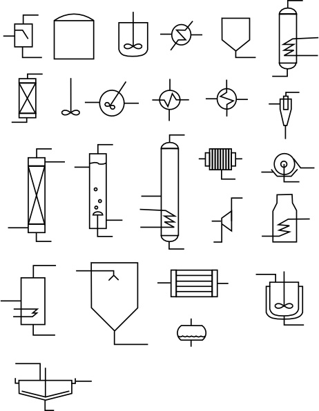 Chemical Flowsheet Elements clip art Free vector in Open