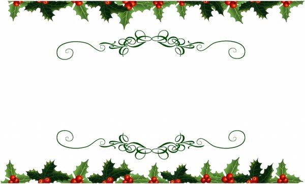 christmas holly vector free