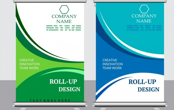 company poster templates blue