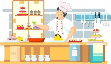 Cooking work background chef kitchen icons cartoon character Free vector in Adobe Illustrator ai ai format Encapsulated PostScript eps eps format format for free download 2 40MB