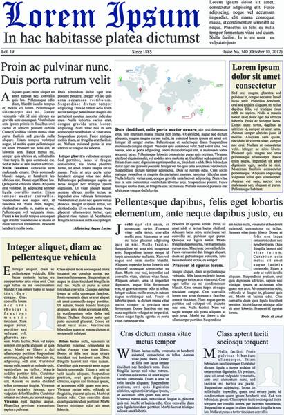 banner graphic newspaper